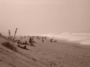 La plage du VVF Capbreton le jour du Royal Barrique - photo par Estim