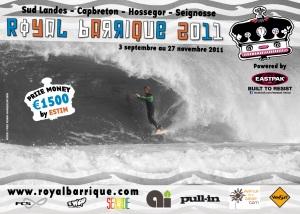 affiche Royal Barrique 2011 compétition de surf où seuls les tubes comptent dans les Landes