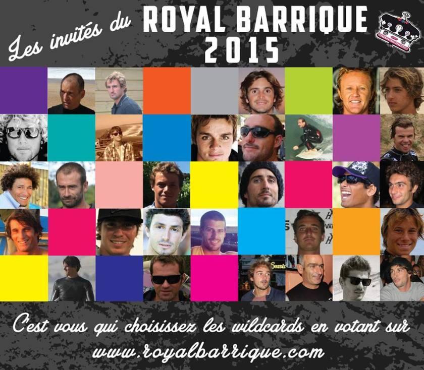 les surfeurs invités pour le Royal Barrique 2015