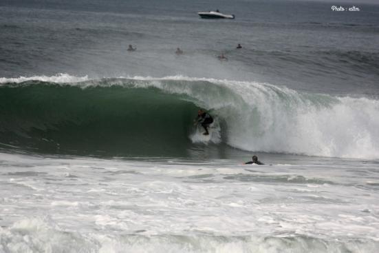 Vincent Verdier dans une des vagues les plus creuses de la journée